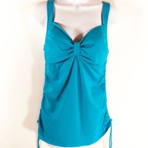 Lands End Womens Tankini Top Size 10